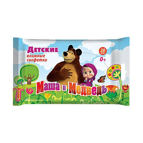 Влажные салфетки Авангард Маша и Медведь №20