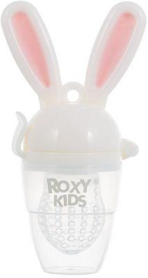 Ниблер для прикорма малышей Bunny Twist, Roxy-Kids, розовый
