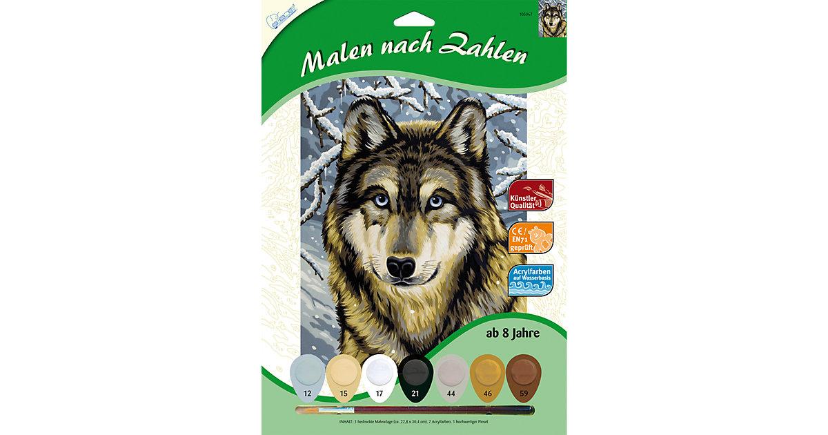 Malen nach Zahlen Wolf