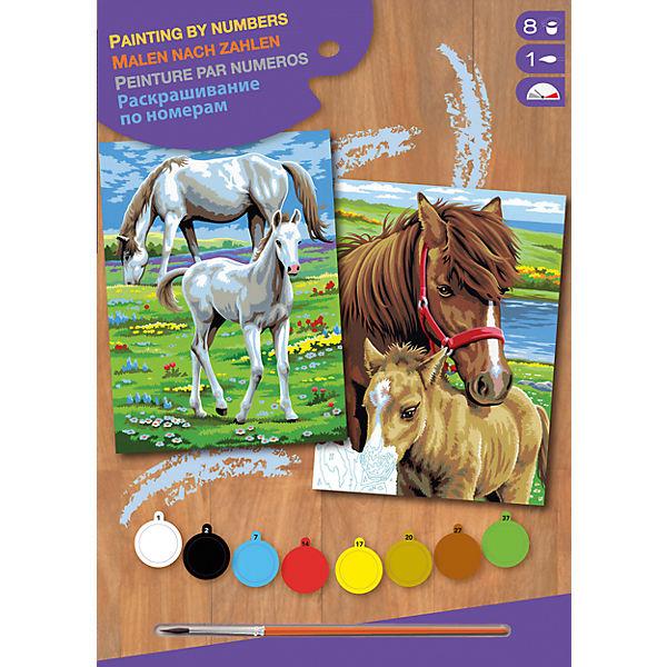 2er Set Malen Nach Zahlen Pferde Mammut Spiel Und Geschenk