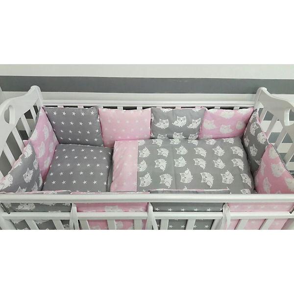 Детское постельное белье 3 предмета By Twinz, Совы, розовый