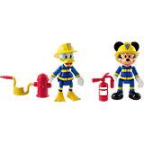 """Disney Набор фигурок """"Микки и весёлые гонки: Пожарные"""" (Микки и Дональд, 8 см, аксесс.)"""