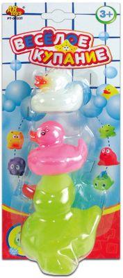 """Набор резиновых уточек для ванной """"Веселое купание"""", 3 предм., ABtoys"""