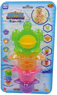 """Черепаха-мельница для ванной, в наборе с аксессуарами, """"Веселое купание"""", 4 предм., ABtoys"""