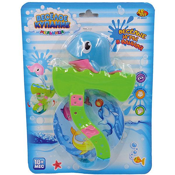"""Дельфин для ванной, с аксессуарами, """"Веселое купание"""", 2 предм, ABtoys"""
