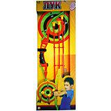 Лук со стрелами на присосках (3 стрелы, лук и мишень,), ABtoys