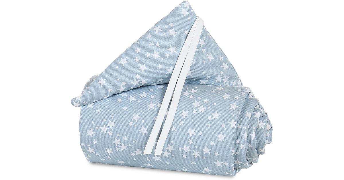 Tobi Babybay · Nestchen pique babybay original, azurblau Sterne weiß, 149 x 24 cm Gr. 25 x 150 Kinder