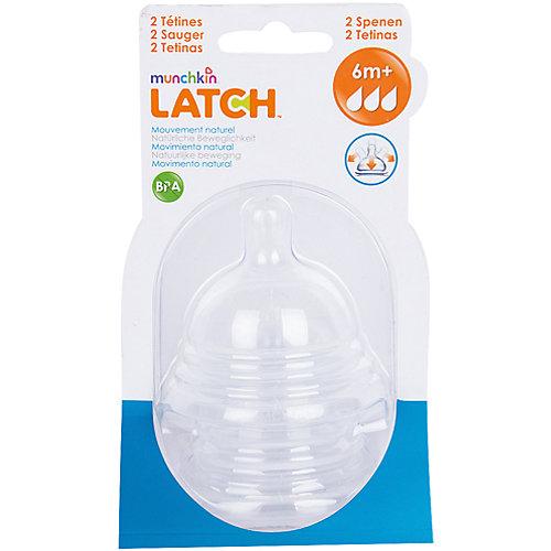 Соска силиконовая LATCH , 2шт., Munchkin от munchkin