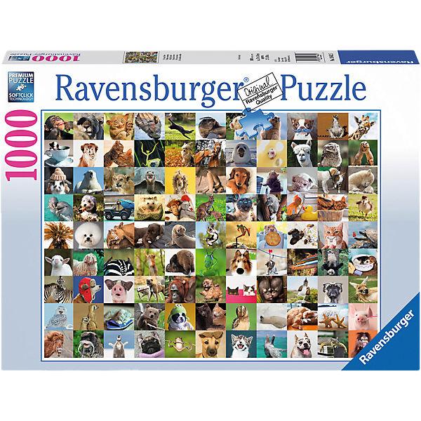 Puzzle 1000 Teile 99 lustige Tiere, Ravensburger