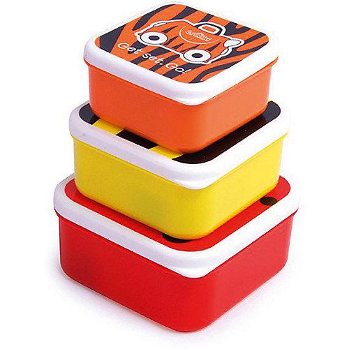 Контейнеры для еды 3 шт, красный, оранжевый, желтый от TRUNKI
