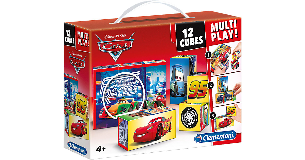 Würfelpuzzle 12er Multiplay - Cars