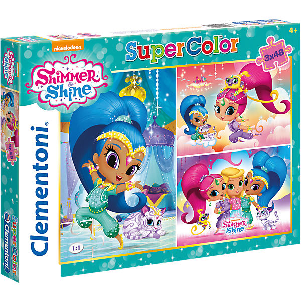 Puzzleset 3 x 48 Teile - Shimmer and Shine, Shimmer & Shine