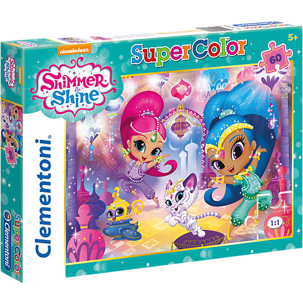 Puzzle 60 Teile - Shimmer and Shine, Shimmer & Shine