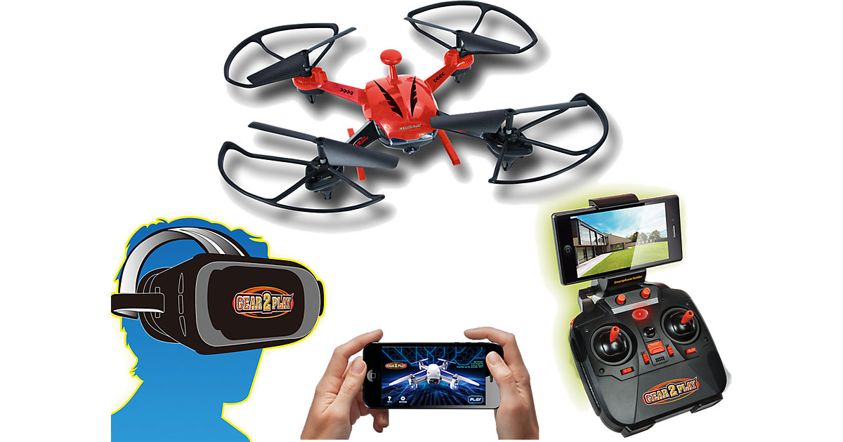 Gear2Play RC Quadrocopter VR Rover Drone mit VR...
