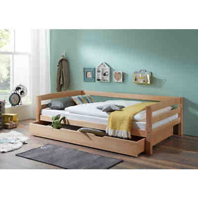 Sofabett Malte Mit Funktionsschubladen 90 X 200 Cm Grau