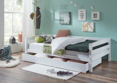 Etagenbett Relita Stefan : Bettkasten nora buche massiv weiß lackiert 90 x 190 cm relita