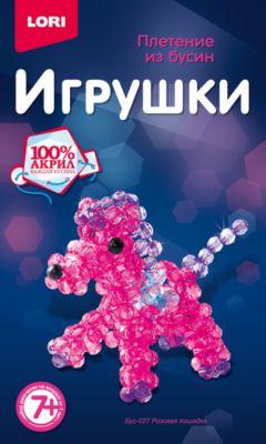 """Плетение из бусин """"Розовая лошадка"""""""