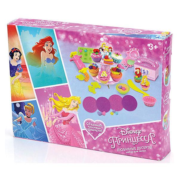 """Набор для лепки Disney Принцесса """"Любимые десерты"""" (масса для лепки - 5 цв., 3D формочки)"""