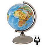 Глобус Земли физический с подсветкой, диаметр 210 мм