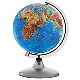 Глобус Земли физический рельефный без подсветки, диаметр 320 мм