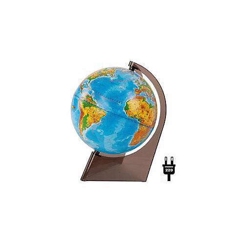 Глобус Земли физический на треугольнике с подсветкой, диаметр 210 мм от Глобусный Мир