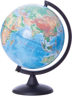 Глобус Земли физический, диаметр 250 мм