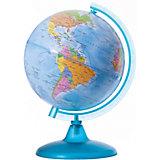 Глобус Земли политический, диаметр 210 мм