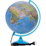 Глобус Земли «Двойная карта» с подсветкой, диаметр 320 мм