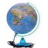 Глобус Земли «Двойная карта» с подсветкой, диаметр 250 мм