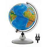 Глобус Земли «Двойная карта» с подсветкой, диаметр 210 мм