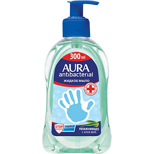 Жидкое мыло AURA Деликатное с алоэ, 300 мл