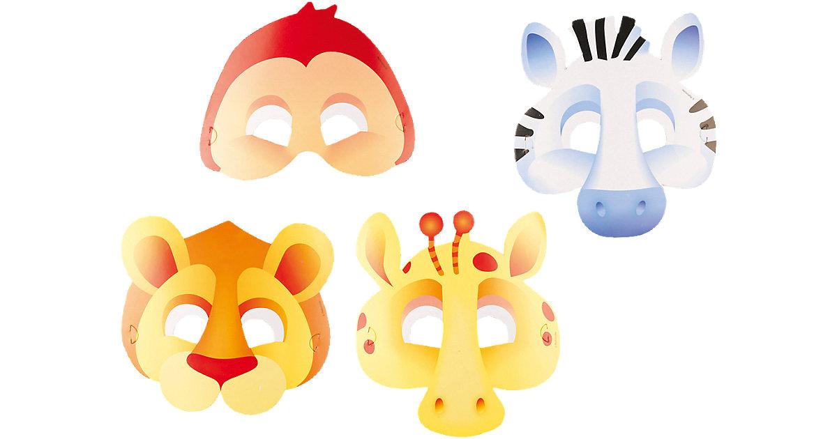 Masken Dschungeltiere, 8 Stück Jungen Kleinkinder