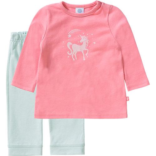 Sanetta Baby Schlafanzug , Einhorn, Organic Cotton Gr. 74 Mädchen Baby | 04055502443882