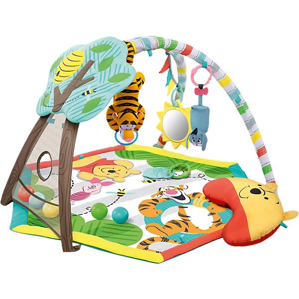 Bright Starts Winnie Puuh Spieldecke mit Spielbogen, Disney Winnie Puuh