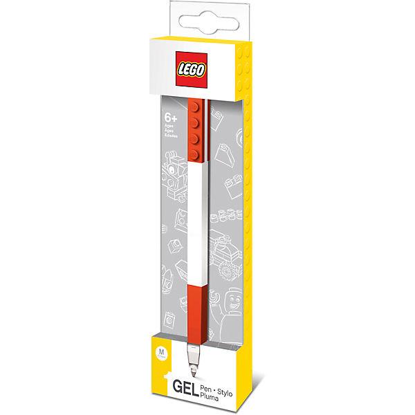 Гелевая ручка, цвет: красный, LEGO
