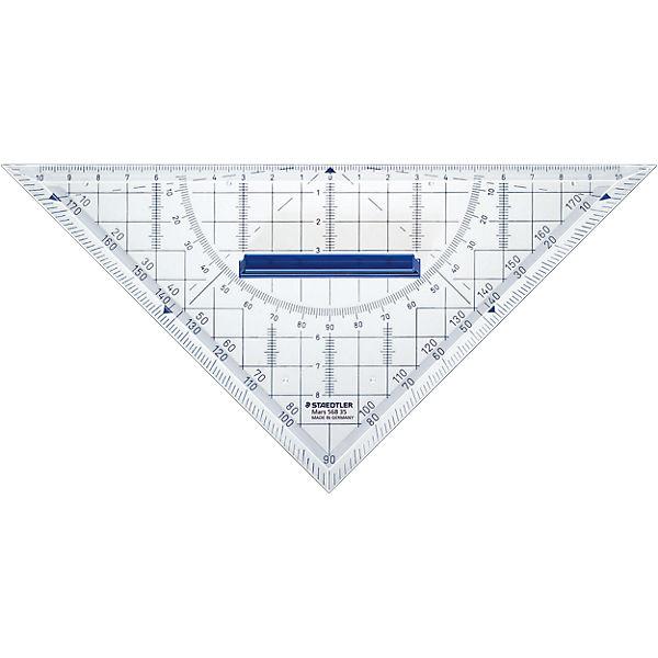 Геометрический треугольник Mars со съемной ручкой, 22 см, Staedtler