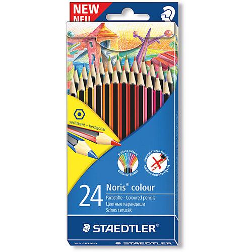 Карандаш цветной Noris Colour, набор 24 цвета, Wopex от Staedtler