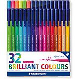 Набор фломастеров Triplus Сolor, 32 цвета, трехгранные,  яркие цвета