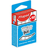 Мел WHITE'PEPS белый, для детей, 10 шт., MAPED
