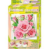 """Набор для изготовления открытки """"Розовый цветок"""""""