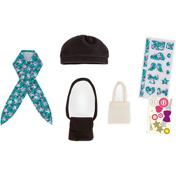 Puppenkleidung Set Taschen & Mütze, Corolle