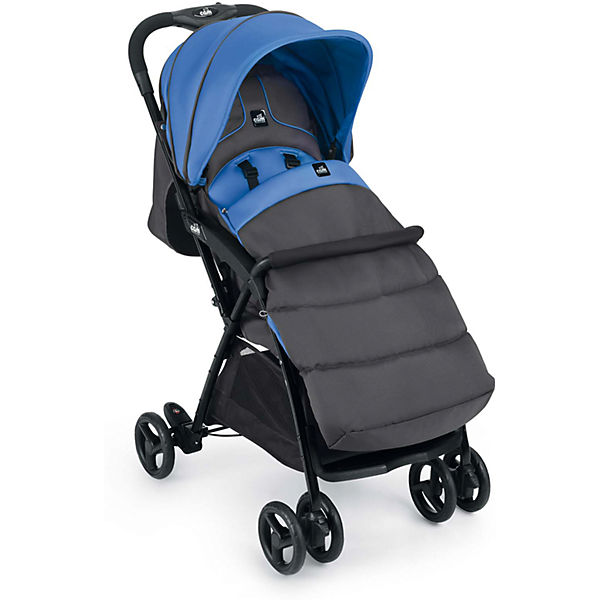 Прогулочная коляска CAM Curvi, серо-синяя