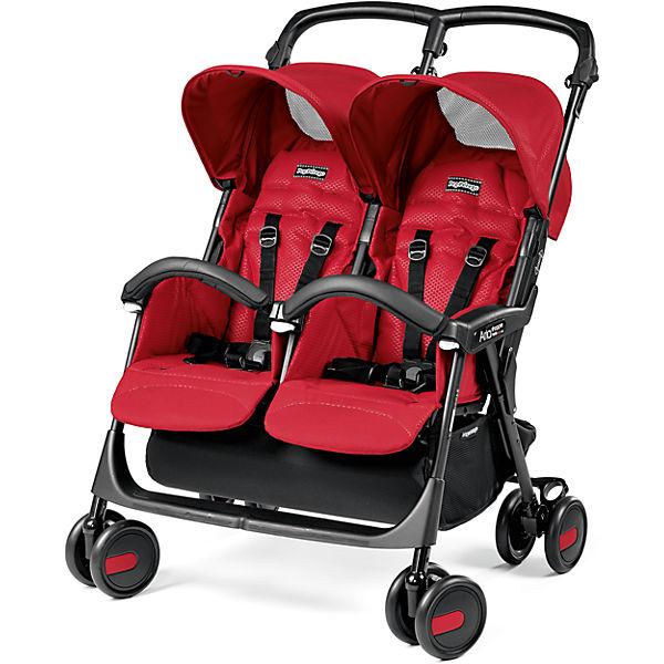 Прогулочная коляска для двойни Peg-Perego Aria Shopper Twin, Mod Red