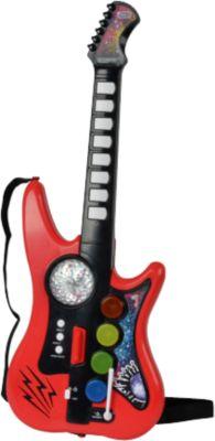 SIMBA DISCO GITARRE mit Verstärker Spielzeug Instrument