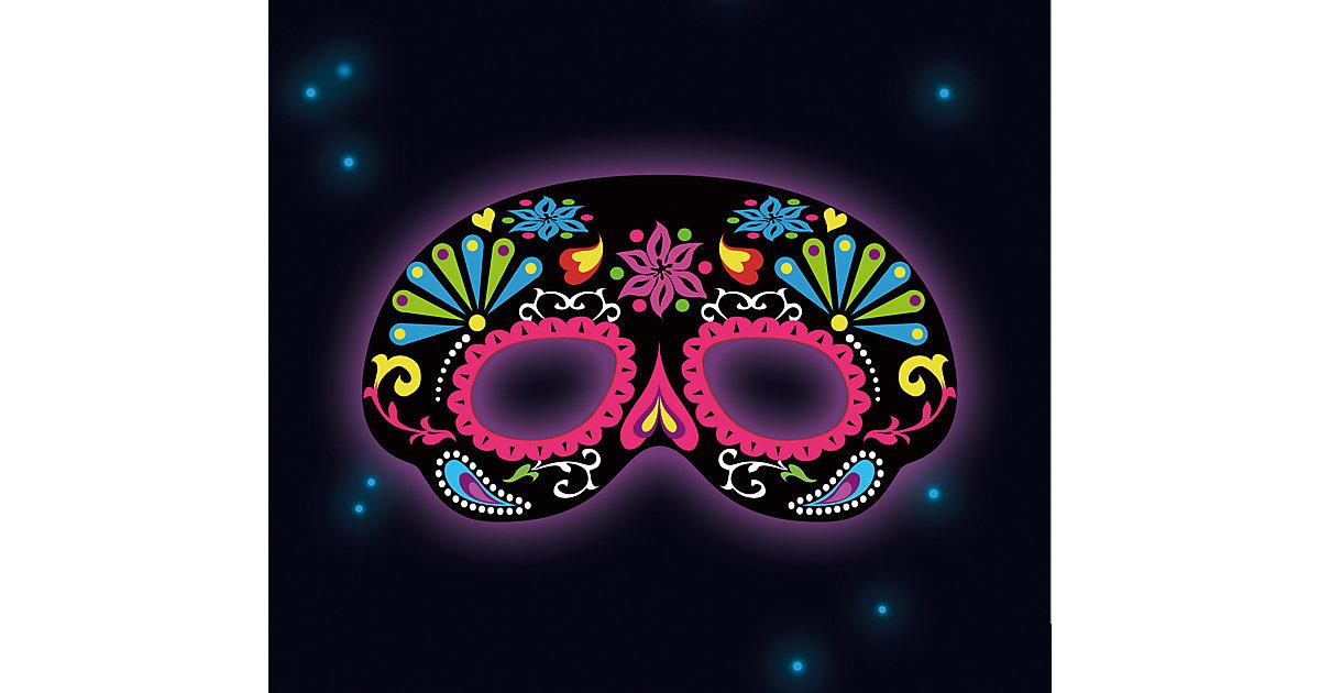 Leucht-Maske, schwarz-ornamental Mädchen Kinder
