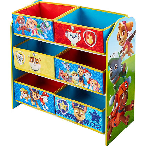 6 boxen regal paw patrol paw patrol mytoys. Black Bedroom Furniture Sets. Home Design Ideas