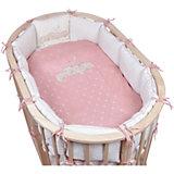 Комплект в овальную кроватку 6 предметов Pituso, Звездочка, розовый