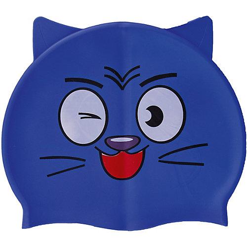 """Шапочка для плавания силиконовая с """"ушками"""", синяя, Dobest от Dobest"""
