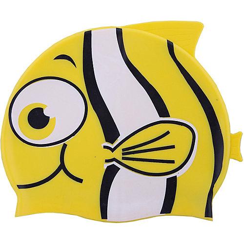 """Шапочка для плавания силиконовая """"Рыбка"""", желтая, Dobest от Dobest"""