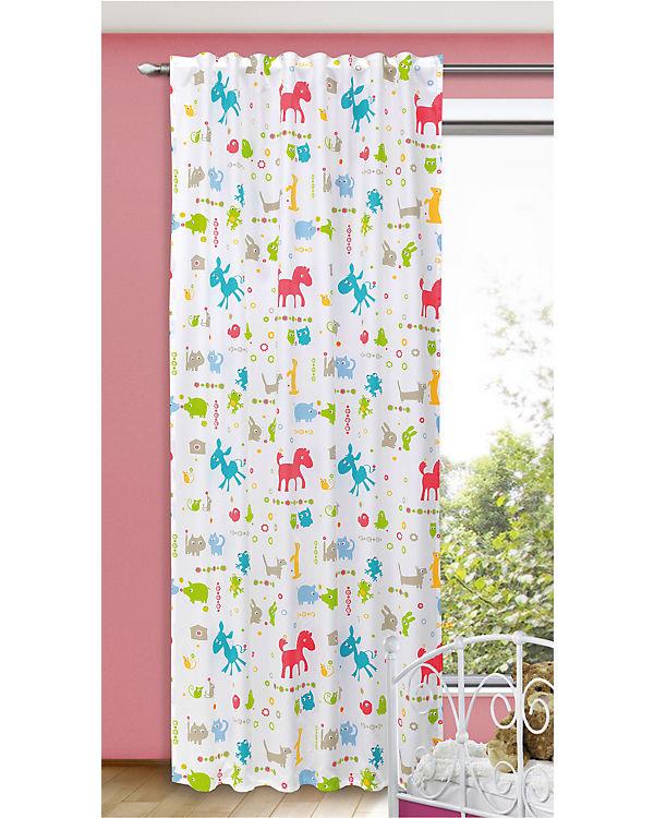 vorhang kinderzimmer tiere, vorhang bunte tiere, 245 x 135 cm, | mytoys, Innenarchitektur